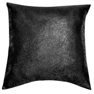Bathroom and More Single (1) Euro/Square Size Pillow Sham with Metallic Accent 26in x 26in (Black)