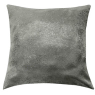 Bathroom and More Single (1) Euro/Square Size Pillow Sham with Metallic Accent 26in x 26in (Gray)