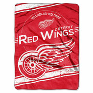 """Officially Licensed NHL Detroit Red Wings Stamp Plush Raschel Throw Blanket, 60"""" x 80"""""""