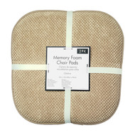 Soft Chair Pads Cushions with Non-Skid Backing for Kitchen Office Living Room Dining Room and Folding Chairs (2 Pack, Taupe)