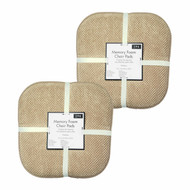 Soft Chair Pads Cushions with Non-Skid Backing for Kitchen Office Living Room Dining Room and Folding Chairs (4 Pack, Taupe)