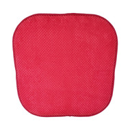 Single (1) Soft Chair Pad Cushion with Non-Skid Backing for Kitchen Office Living Room Dining Room and Folding Chairs (Red)