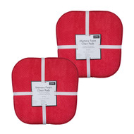 Soft Chair Pads Cushions with Non-Skid Backing for Kitchen Office Living Room Dining Room and Folding Chairs (4 Pack, Red)