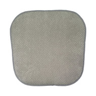 Single (1) Soft Chair Pad Cushion with Non-Skid Backing for Kitchen Office Living Room Dining Room and Folding Chairs (Gray)