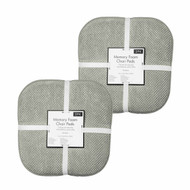 Soft Chair Pads Cushions with Non-Skid Backing for Kitchen Office Living Room Dining Room and Folding Chairs (4 Pack, Gray)