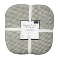 Soft Chair Pads Cushions with Non-Skid Backing for Kitchen Office Living Room Dining Room and Folding Chairs (2 Pack, Gray)