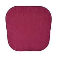 Single (1) Soft Chair Pad Cushion with Non-Skid Backing for Kitchen Office Living Room Dining Room and Folding Chairs (Burgundy)