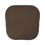 Single (1) Soft Chair Pad Cushion with Non-Skid Backing for Kitchen Office Living Room Dining Room and Folding Chairs (Chocolate Brown)