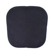 Single (1) Soft Chair Pad Cushion with Non-Skid Backing for Kitchen Office Living Room Dining Room and Folding Chairs (Black)