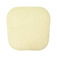 Single (1) Soft Chair Pad Cushion with Non-Skid Backing for Kitchen Office Living Room Dining Room and Folding Chairs (Beige)