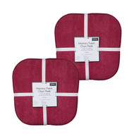Soft Chair Pads Cushions with Non-Skid Backing for Kitchen Office Living Room Dining Room and Folding Chairs (4 Pack, Burgundy)