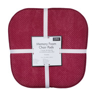 Soft Chair Pads Cushions with Non-Skid Backing for Kitchen Office Living Room Dining Room and Folding Chairs (2 Pack, Burgundy)
