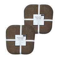 Soft Chair Pads Cushions with Non-Skid Backing for Kitchen Office Living Room Dining Room and Folding Chairs (4 Pack, Chocolate Brown)