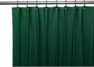 Dark Green Standard Size Magnetized Vinyl Shower Curtain. Resist Mold, Mildew and Bacteria