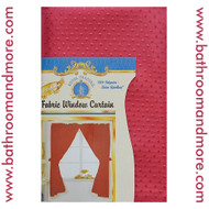 Red Fabric Double Swag Window Curtain