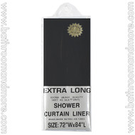 "Black Heavy Duty 5 Gauge Vinyl Shower Curtain Liner 72""x84"""