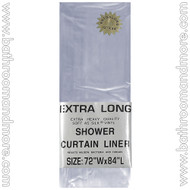 "Super Clear Heavy Duty 5 Gauge Vinyl Shower Curtain Liner 72""x84"""