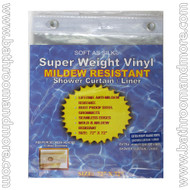 "Super Clear Extra Heavy Duty 10 Gauge Vinyl Shower Curtain Liner 72""x72"""