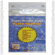 "Super Clear Extra Heavy Duty 10 Gauge Vinyl Shower Curtain Liner 54""x78"""