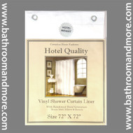 "White Hotel Weight 8 Gauge Shower Curtain Liner 72""x72"""