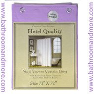 "Lavender Lilac Purple  Hotel Weight 8 Gauge Shower Curtain Liner 72""x72"""