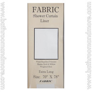 """Extra Long Carnation Fabric Shower Curtain Liner White 70""""x78"""""""