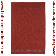 Home dynamix area mat in brick red.