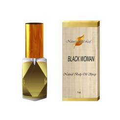Black Woman Body Oil Spray for Women