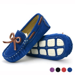 Bow Suede Loafers