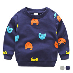 Printed Cartoon Cat Sweater