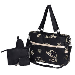 Printed Mommy Messenger Strap Bag