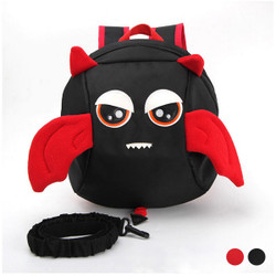 Detachable Safety Strap Cartoon Winged Kids Backpack