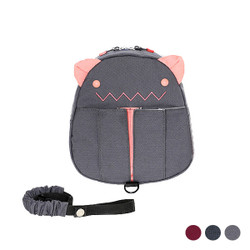 Detachable Safety Strap Cartoon Ears Kids Backpack