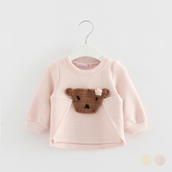 Patched Knit Bear Sweater