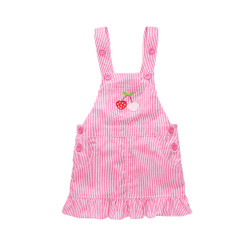 Embroidered Frill Hem Overalls