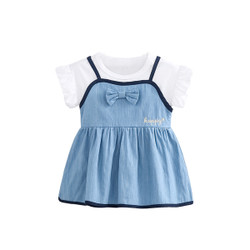 One Piece Soft Denim Dress Overalls