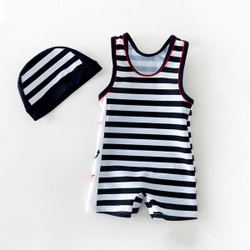 Two Piece Boys Nautical Sleeveless Swimsuit