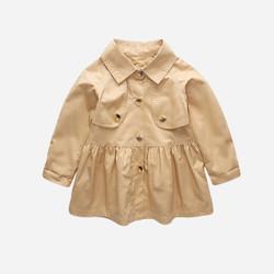 Button Frill Collar Jacket