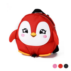 Detachable Safety Strap Cartoon Penguin Kids Backpack