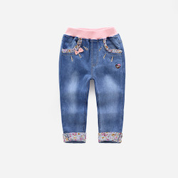 Frill Floral Denim Jeans