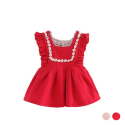 Lace Frill Dress Overalls