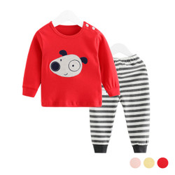 Cartoon Puppy Long Sleeve Shirt & Pants Set