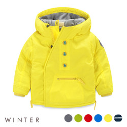 Winter Button High Collar Jacket