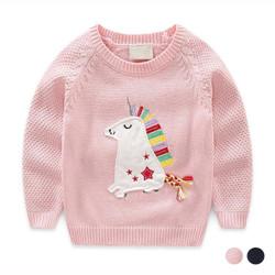 Cartoon Unicorn Knit Sweater