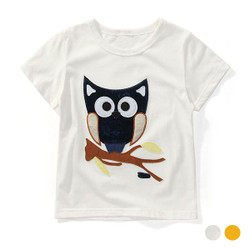 Cartoon Patched Owl Tee