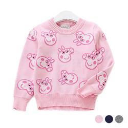 Girls Cartoon Knit Sweater
