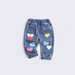 Colored Hearts Denim Jeans
