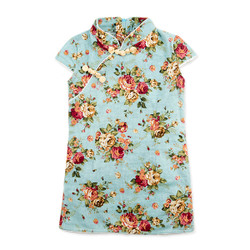 Sweetheart Floral Cheongsam Dress