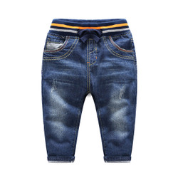 Cartoon Colored Waistband Denim Jeans