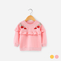 Frill Embroidered Floral Sweater